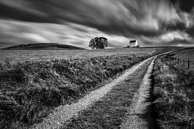 Tracks To Corgarff Castle Print by Dave Bowman