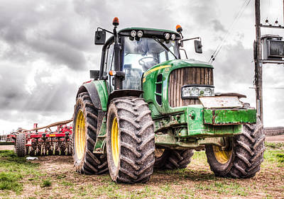 Plough Photograph - Tractor 2 by Ian Hufton