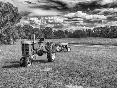 B Photograph - Tractors by Howard Salmon