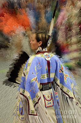 Pow Wow Traditional Dancer 2 Print by Bob Christopher