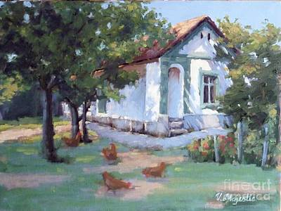 Black History Painting - Traditional European House by Viktoria K Majestic