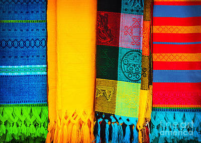 Homemade Quilts Photograph - Traditional Mexican Neckerchief by Anna Omelchenko