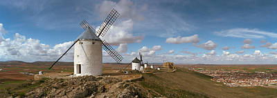 La Mancha Photograph - Traditional Windmill On A Hill by Panoramic Images
