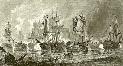 Trafalgar Painting - Trafalgar by English School
