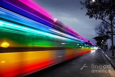 Traffic In Los Angeles Print by Konstantin Sutyagin