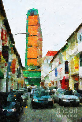 Local Attraction Painting - Traffic In Singapore Painting by George Fedin and Magomed Magomedagaev