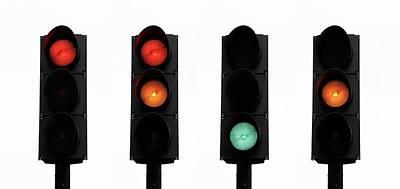 Traffic Lights Print by Cordelia Molloy