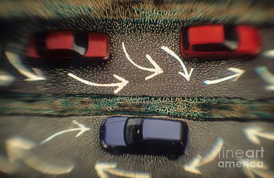 Gridlock Photograph - Traffic by Novastock