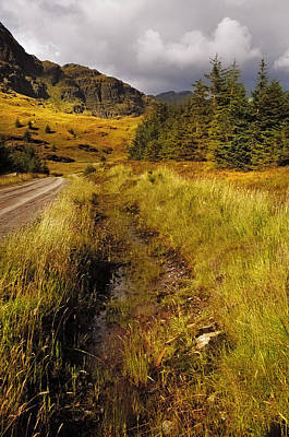 Autumn Photograph - Trail At Rest And Be Thankful. Scotland by Jenny Rainbow