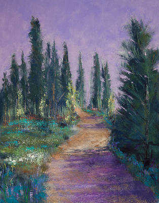 Flowers Painting - Trail In The Woods by David Patterson