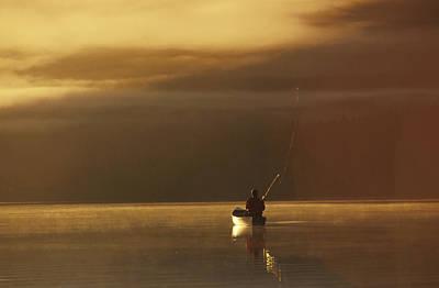 Trail Lake Kenai Peninsula Southcentral Print by Jeff Schultz