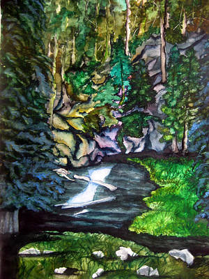 Lassen Painting - Trail To Broke-off by Lil Taylor
