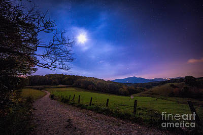 Moon Photograph - Trails To The Moon by Robert Loe