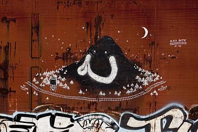 Train Photograph - Train Art Graffiti by Carol Leigh