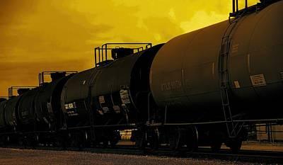 Train At Sunset Original by Dan Sproul
