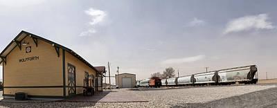 Gigapan Photograph - Train Depot Panorama by Melany Sarafis