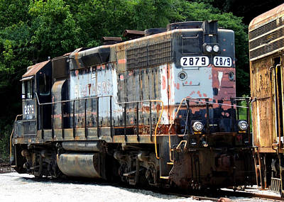 Landscape Photograph - Train Engine #2879 by Mark Moore