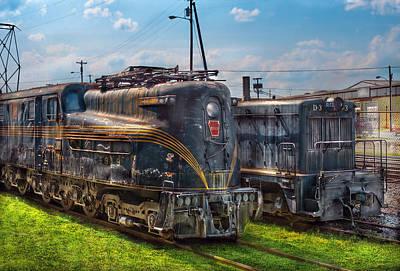 Train - Engine - 4919 - Pennsylvania Railroad Electric Locomotive  4919  Print by Mike Savad