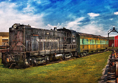 Train - Engine - Baldwin Locomotive Works Print by Mike Savad