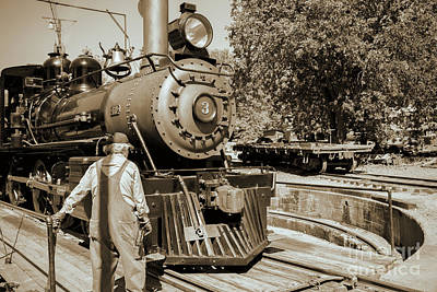 Train Photograph - Train Engine by David Millenheft