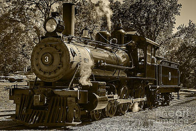 Train Photograph - Train Engine Number 3 by David Millenheft