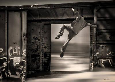 Train Jumping Print by Bob Orsillo