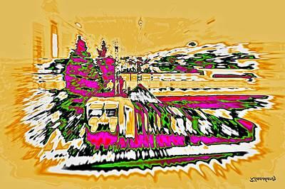 Drag Mixed Media - Train by Klaas Hartz