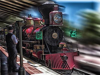 Train Ride Magic Kingdom Print by Thomas Woolworth