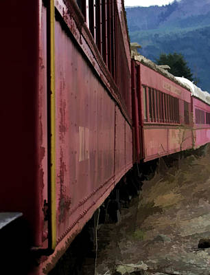Train Print by Ron Roberts