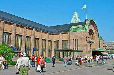 Helsinki Finland Digital Art - Train Station In Helsinki-finland by Ruth Hager