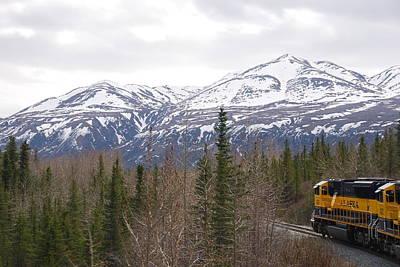Train To Denali Print by Michael Gooch