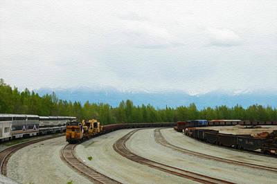 Train Tracks Print by Tracy Winter