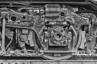 Train Wheel Print by Cindi Ressler