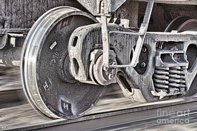 Train Tracks Photograph - Train Wheels by James BO  Insogna