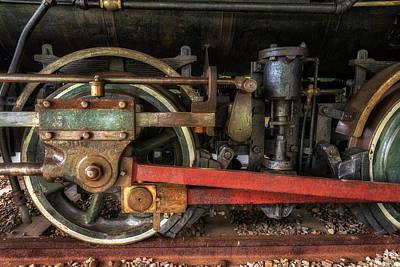 Locomotive Wheels Photograph - Train Wheels by Mark Papke