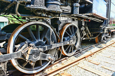 Train Wheels Print by Paul Ward
