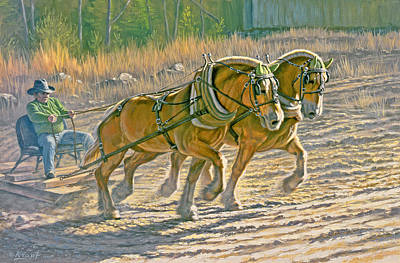 Draft Painting - Training For The Pull  by Paul Krapf
