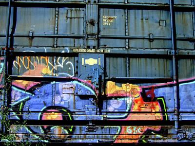 Tag Art Photograph - Trains On Trains by Donna Blackhall