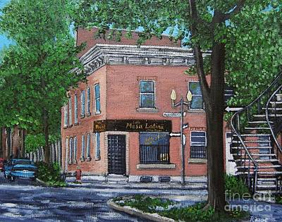 Montreal Painting - Traiteur Mesa Latina  by Reb Frost