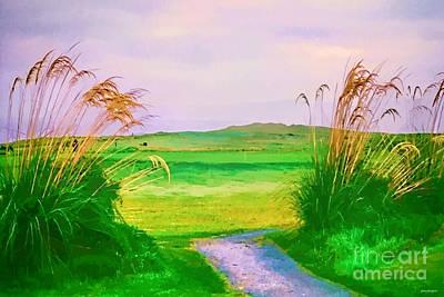 Tourism Digital Art - Tralee Ireland Water Color Effect by Tom Prendergast