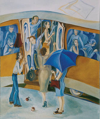 Tram No 6 Print by Monica Voykova