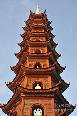 Tran Quoc Pagoda In Hanoi Print by Sami Sarkis