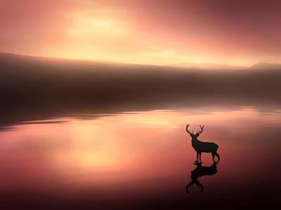 Sunset Digital Art - Tranquil Dawn by Jennifer Woodward