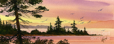 Tranquil Shore Print by James Williamson