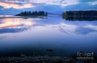 Tranquil Sunset Print by Idaho Scenic Images Linda Lantzy