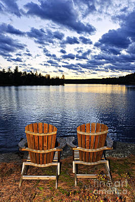 Muskoka Photograph - Tranquility At Sunset by Elena Elisseeva