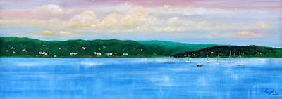 Rumson Painting - Tranquility On The Navesink River by Leonardo Ruggieri