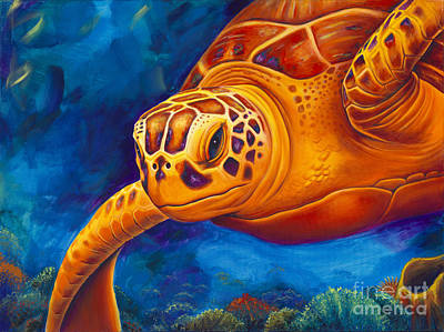 Colorful Marine Life Painting - Tranquility by Scott Spillman