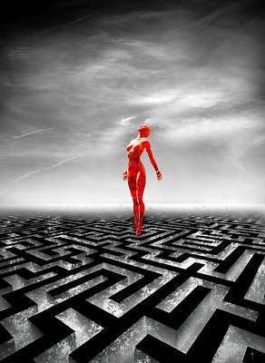 Surreal Art Mixed Media - Transcend by Jacky Gerritsen
