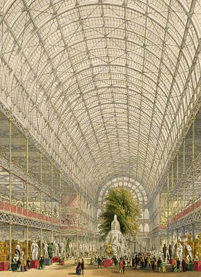 Transept Of The Crystal Palace Print by George Hawkins